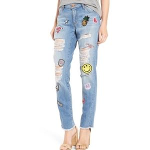 STS Blue Tomboy Skinny Distressed Patched Jeans
